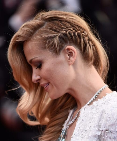bride french braid hairstyles