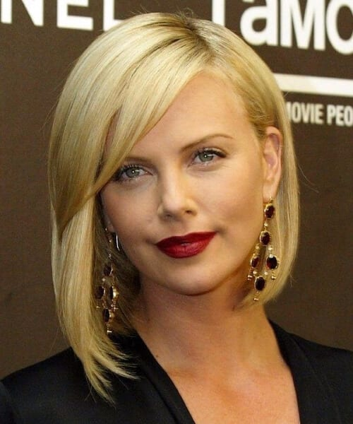 charlize theron shoulder length bob