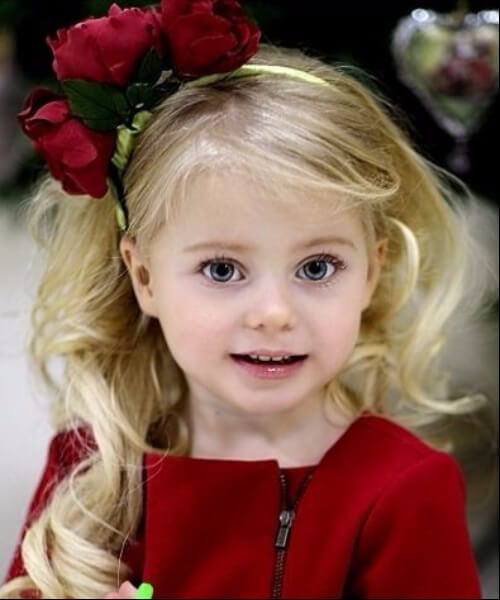 classic blonde waves roses little girl hairstyles