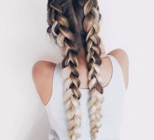 coffee and cream french braid hairstyles