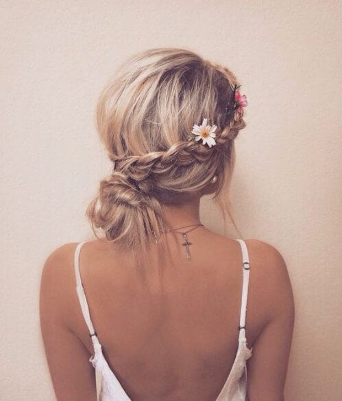 cute boho french braid hairstyles