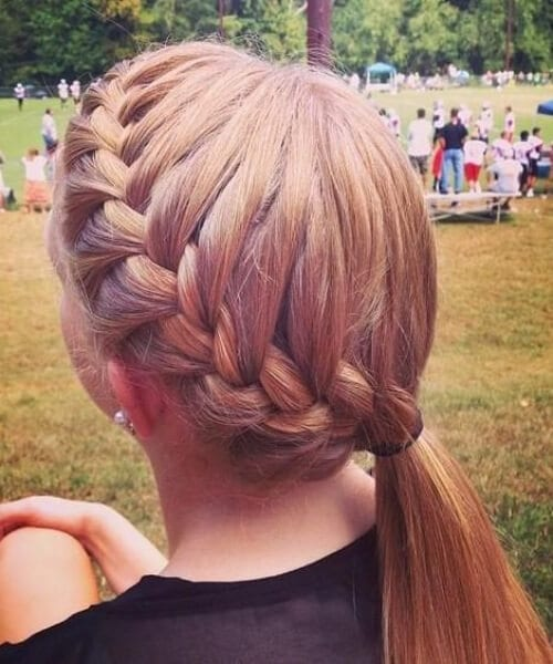 easy pony everyday french braid hairstyles