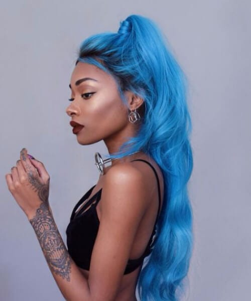 edgy blue black girl hairstyles