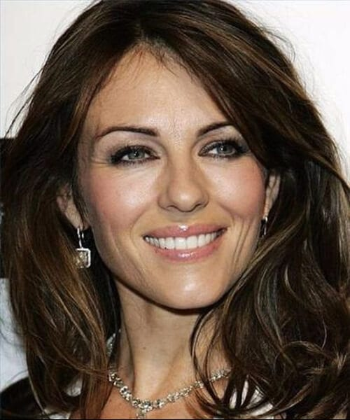 elizabeth hurley hairstyles for women over 40