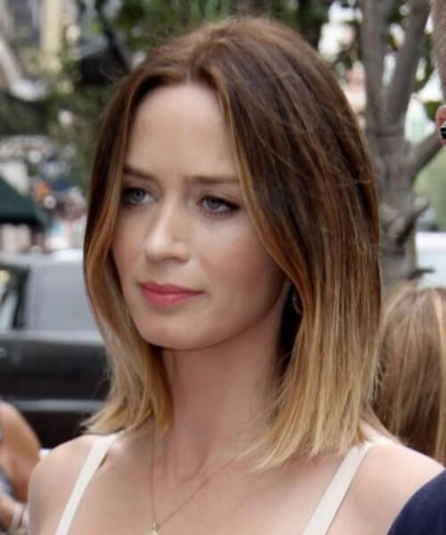 emily blunt hairstyles for thin hair