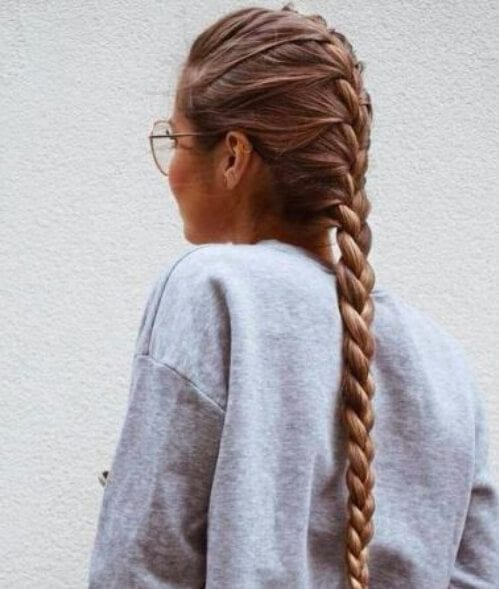 extra long french braid hairstyles