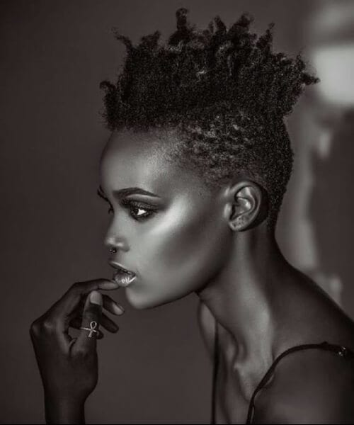 fauxhawk black girl hairstyles