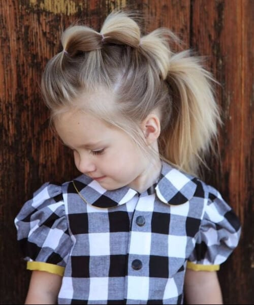 fauxhawk bubble braid little girl hairstyles