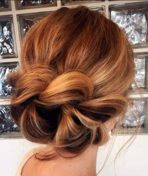 fishtail in a bun hairstyles for thin hair
