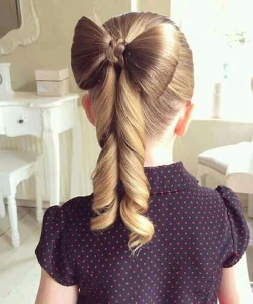 hair bow little girl hairstyles