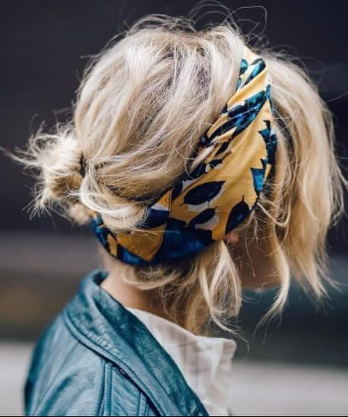 hairstyles for thin hair bandanna
