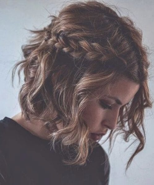 half up waves bob french braid hairstyles