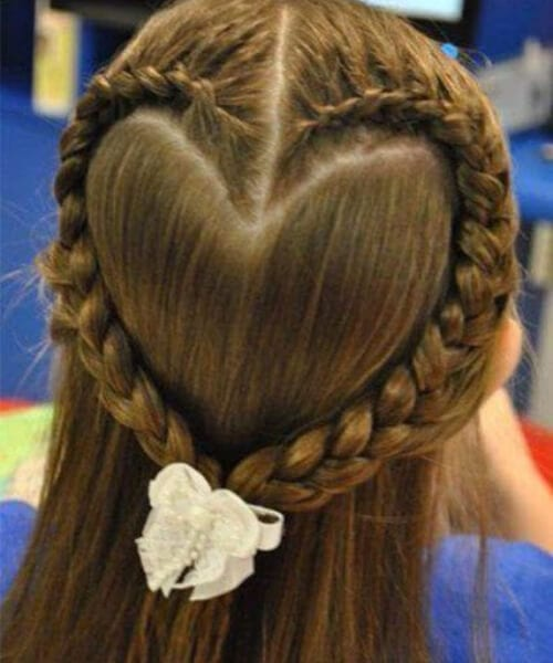 heart little girl hairstyles