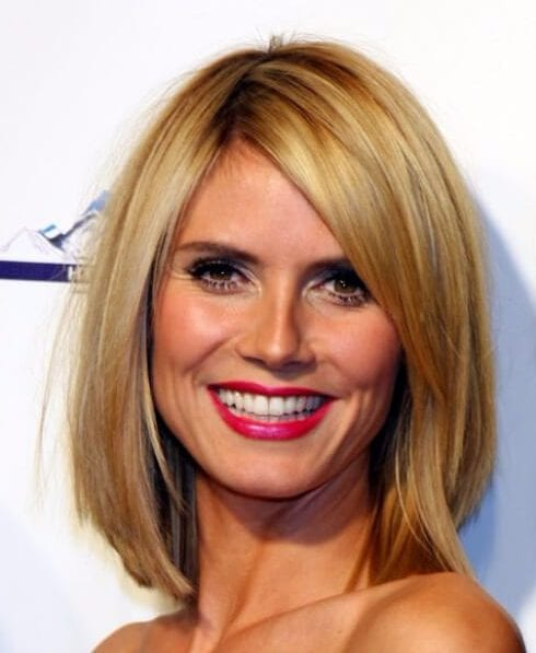 heidi klum shoulder length bob