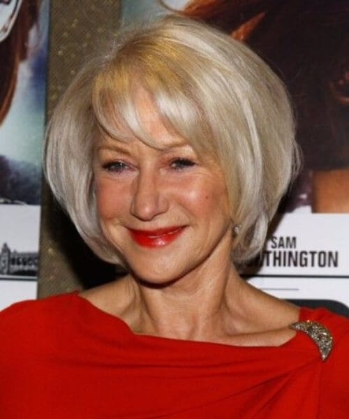 helen mirren hairstyles for women over 40