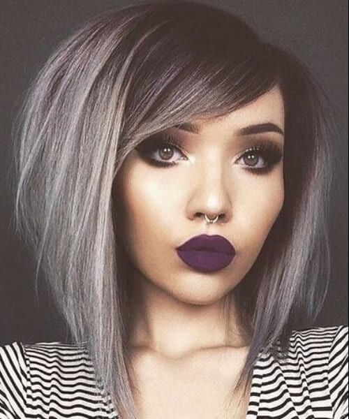 hipster shoulder length bob