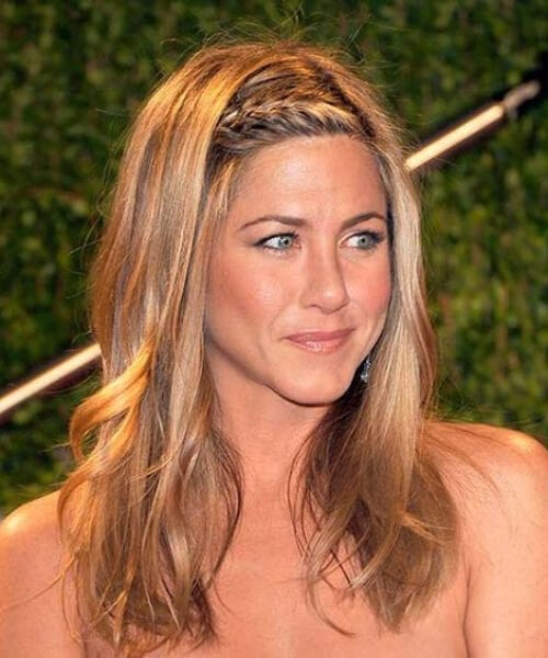 jennifer aniston french braid hairstyles