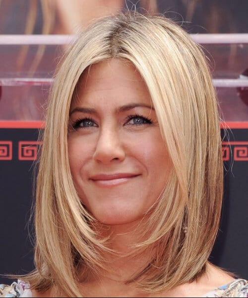 jennifer aniston shoulder length bob