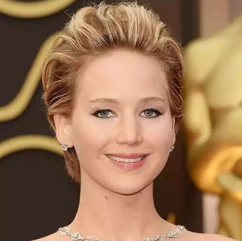 jennifer lawrence long pixie cut