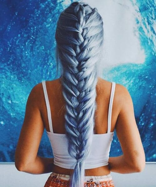 jumbo french braid hairstyles