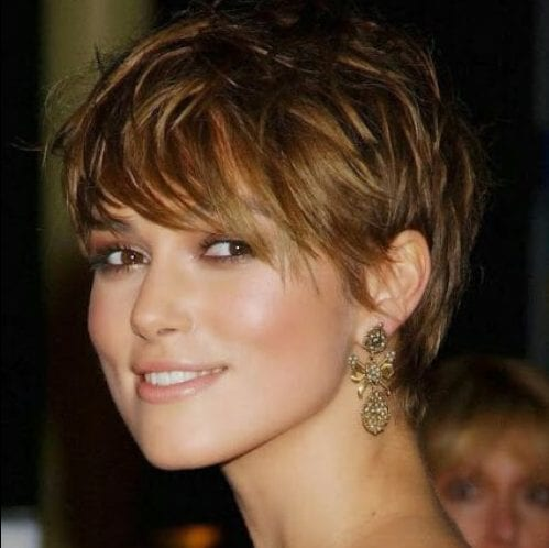 keira knighteley long pixie cut