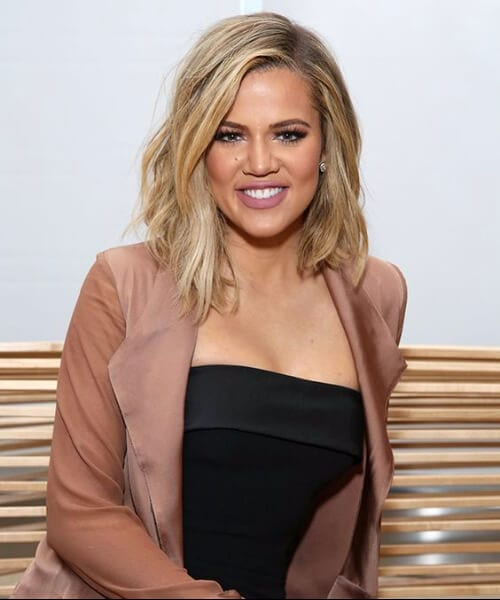 khloe kardashian shoulder length bob