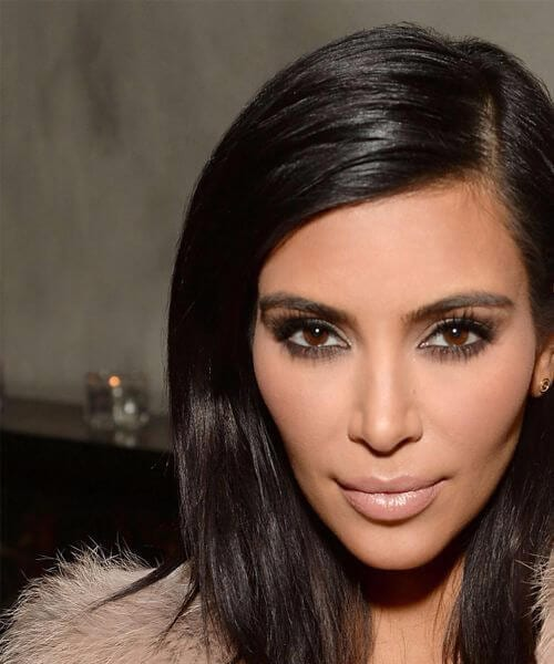 kim kardashian shoulder length bob