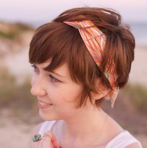 long pixie cut hair scarf