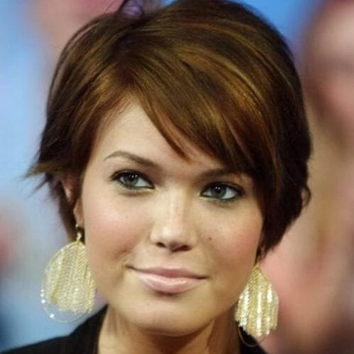 mandy moore long pixie cut