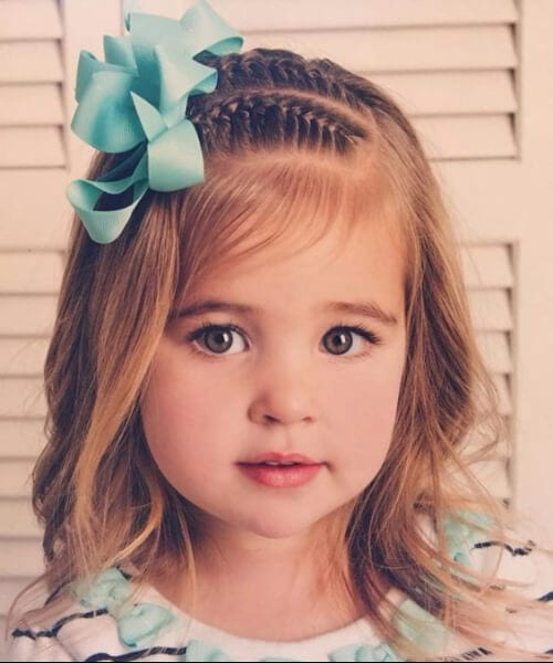 mini braids mint bow little girl hairstyles