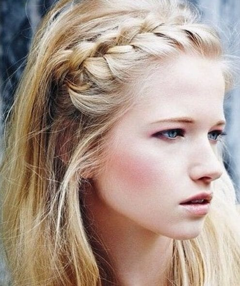 natural headband french braid hairstyles