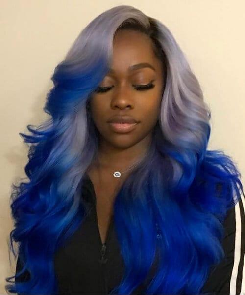peacock blue black girl hairstyles