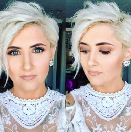platinum long pixie cut