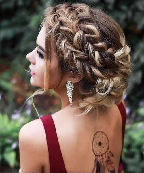 prom triple french braid hairstyles
