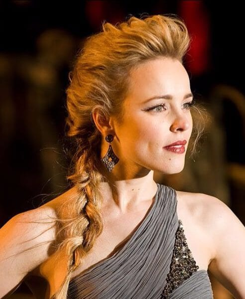 rachel mcadams french braid hairstyles