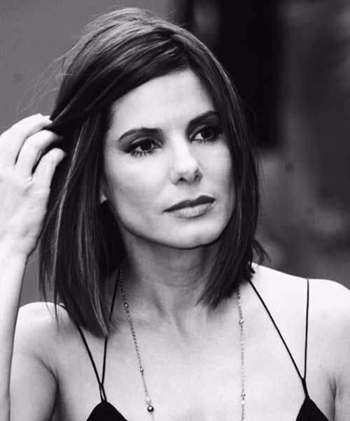 sandra bullock shoulder length bob