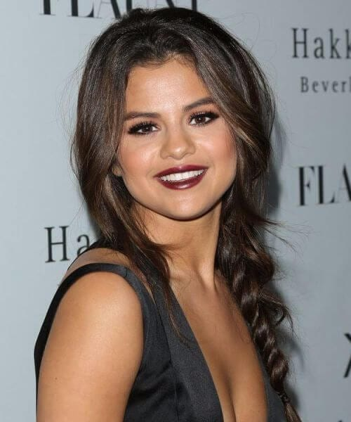 selena gomez french braid hairstyles