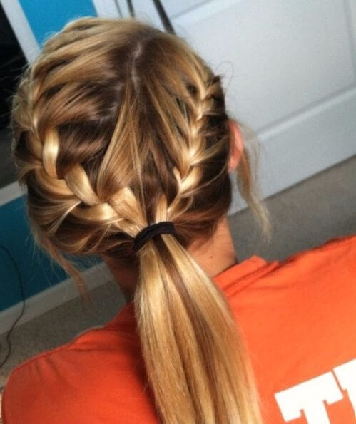 simple french braid hairstyles