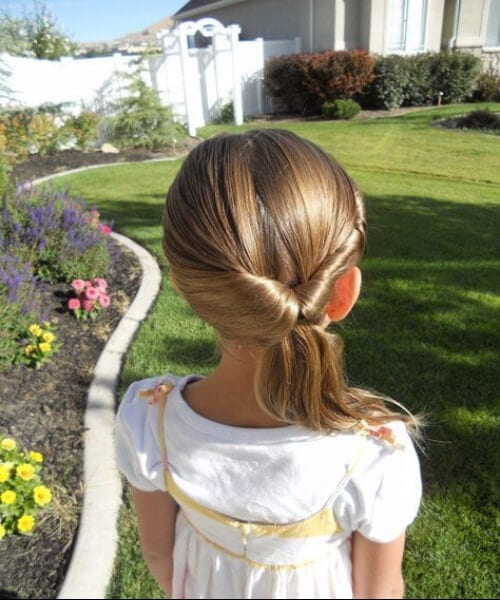 simple knot little girls hairstyles