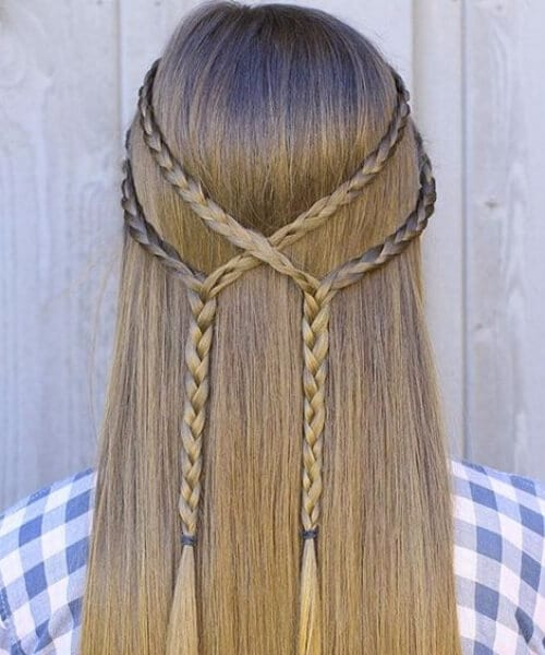 simple tiebacks little girl hairstyles