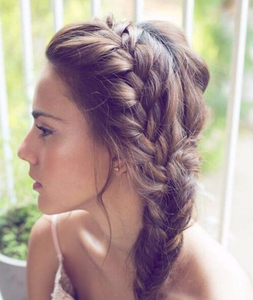 spring volume french braid hairstyles