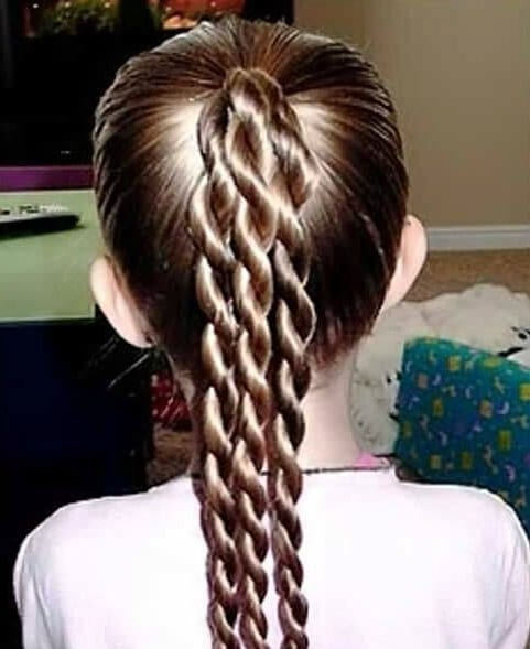 three simple braids little girl hairstyles