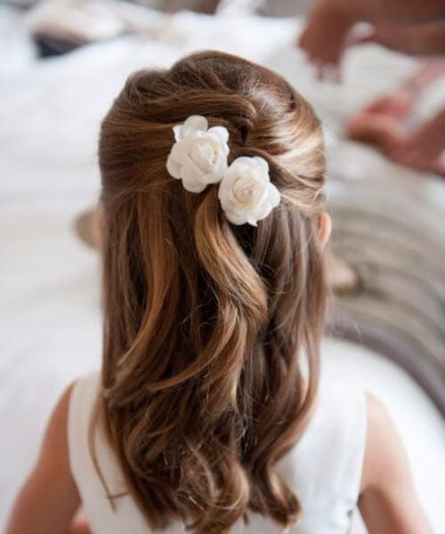 tiny flower girl little girl hairstyles