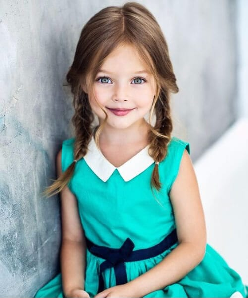 traditional pigtails little girl hairstyles