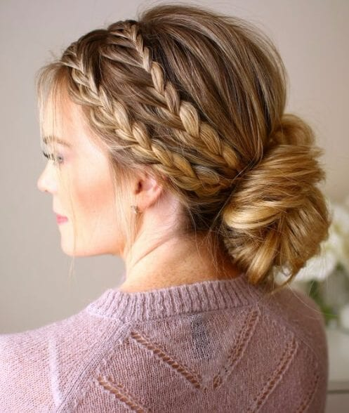 triples braided updo french braid hairstyles