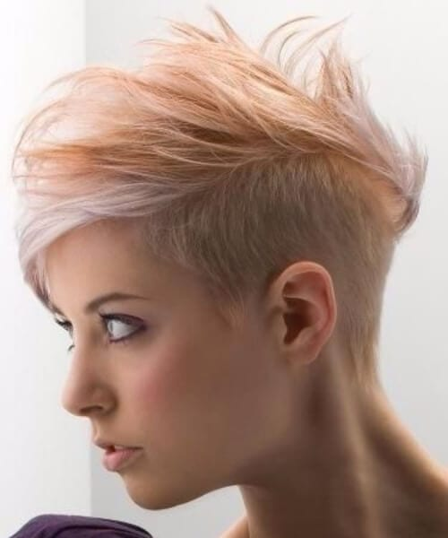 washed out tangerine undercut hairstyles for thin hair