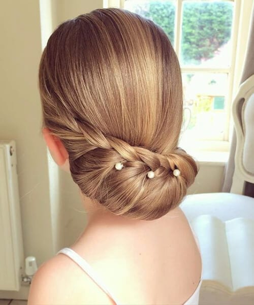 wedding pearls half french braid hairstyles