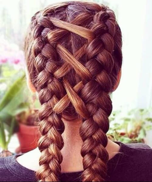 x marks the spot french braid hairstyles