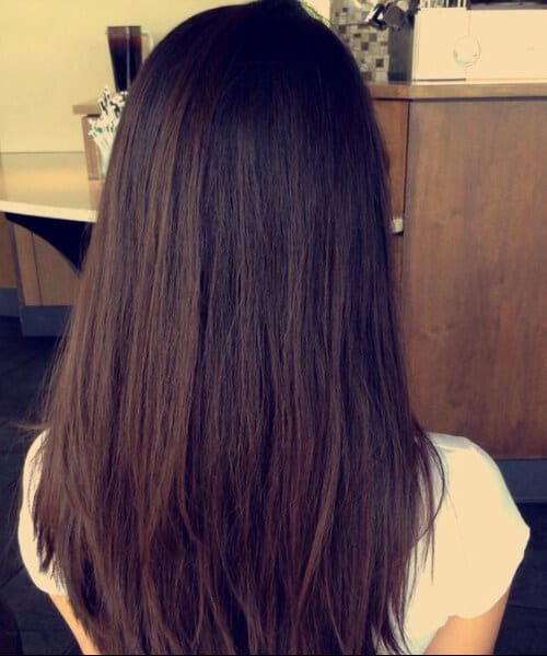 Long Deep Espresso-Brown Hair with Short Chunky Layers chocolate brown hair