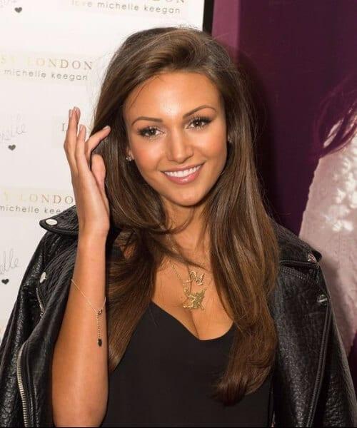 Michelle Keegan chocolate brown hair